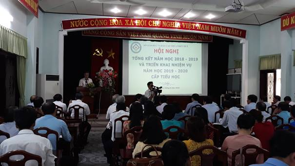The conference on summarizing  the 2018-2019 school year and deploying  the key tasks  of  2019-2020 school year Primary level.