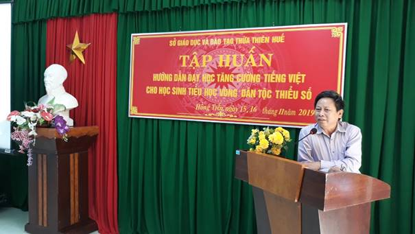 Training on teaching Vietnamese intensively to ethnic minority primary school students for the 2019-2020 school year