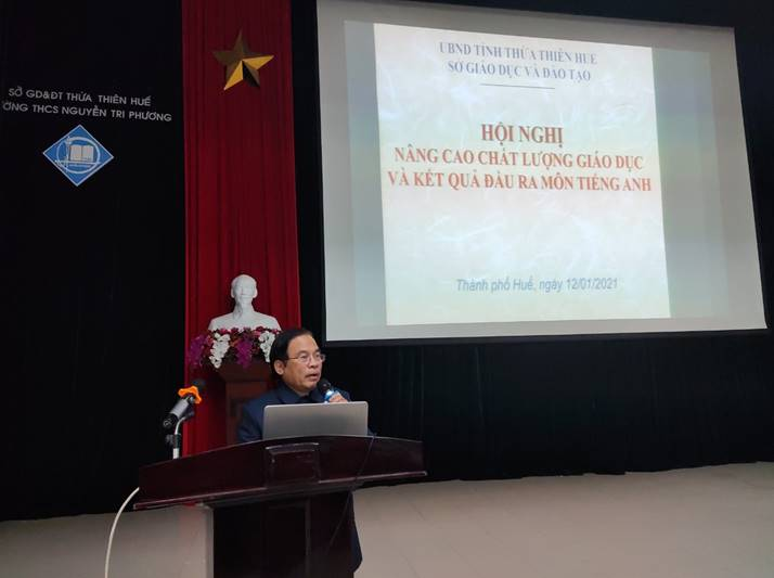 A conference on improving the education quality and output of English