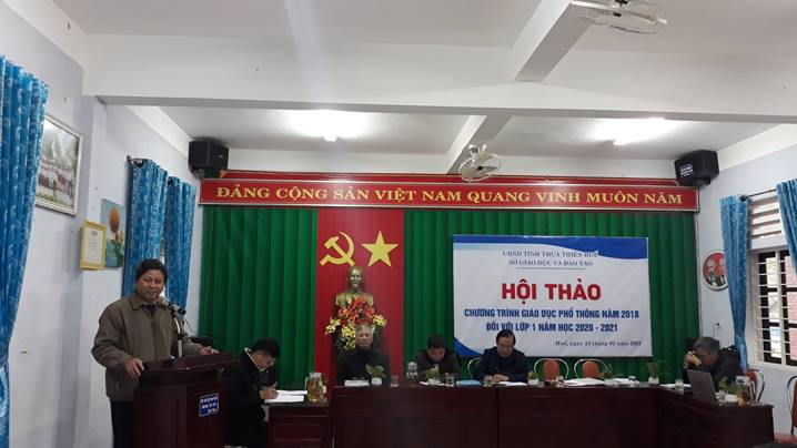 A conference on promoting the guide to carrying out General Education Curriculum 2018 in Hue city